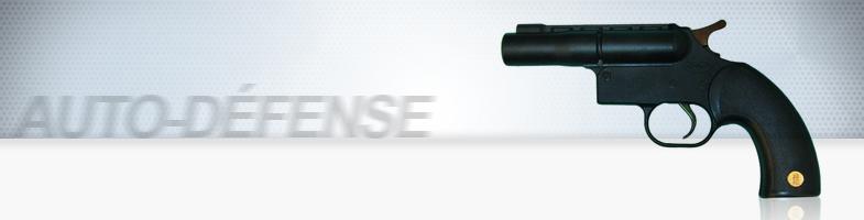 Arme à blanc + gaz