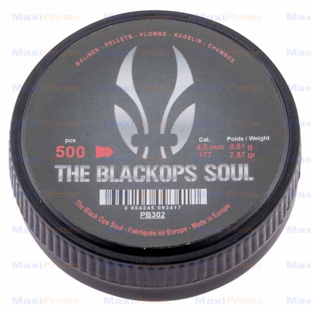 500 Plombs Tête Pointus BLACK OPS Soul Calibre 4.5mm