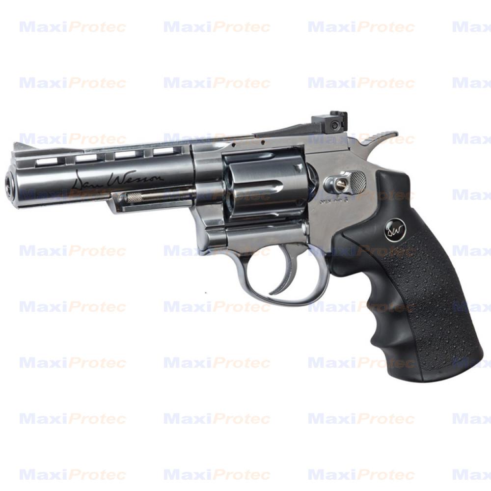 """Revolver Dan Wesson 4"""" Chromé cal. 6 mm"""