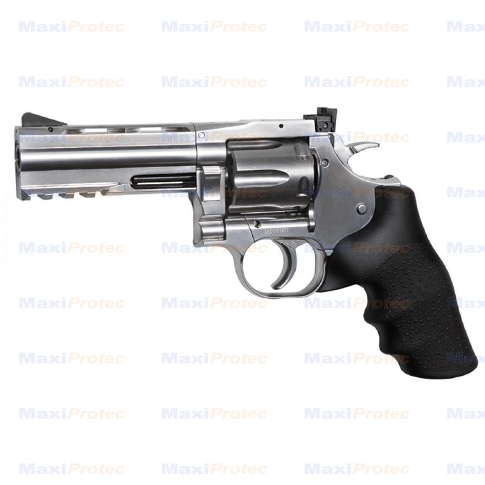 "Revolver Dan Wesson 715 chromé 4"" cal.4.5 mm Plombs"