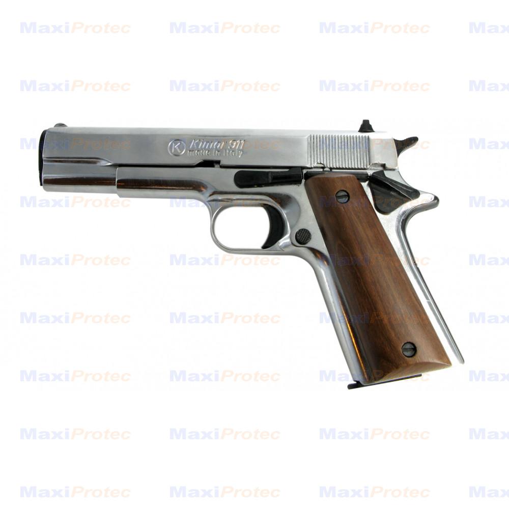pistolet type colt 1911 chrom cal 9 mm. Black Bedroom Furniture Sets. Home Design Ideas