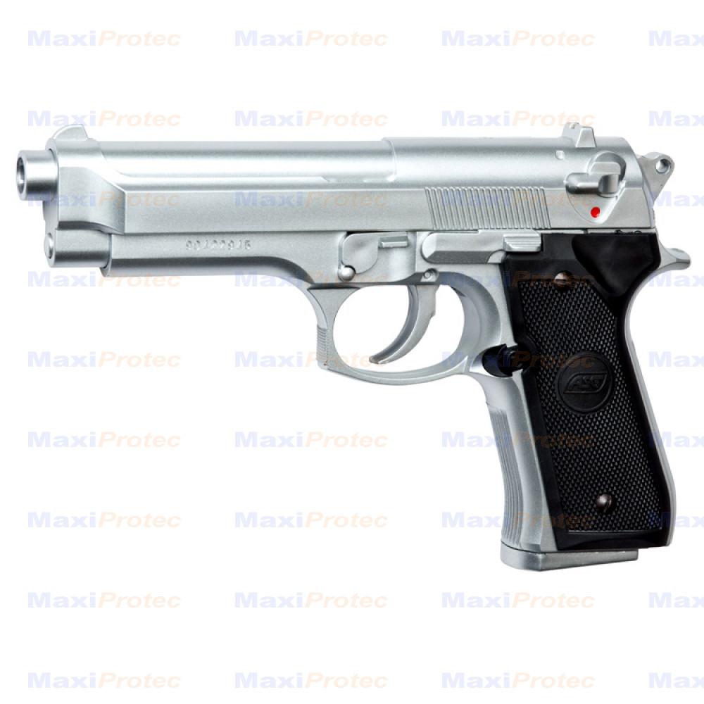 Pistolet M92 FS Chromé Asg cal. 6mm