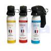 Pack 3 extincteurs lacrymogènes Gaz/Gel/Poivre 100ml
