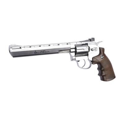 """Revolver Dan Wesson chromé 8"""" cal. 4.5 mm BBs"""