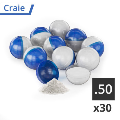 30 Balles  T4E bleu/blanc cal.50 Marquage Craie