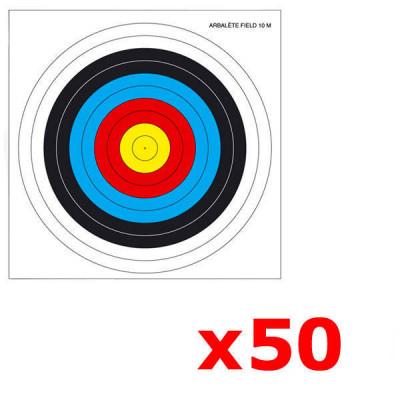 Lot de 50 cibles arbalete Field 25X25 cm