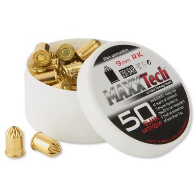 50 cartouches à blanc Maxxtech pour revolver 9mm