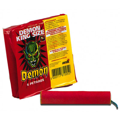 Paquet de 6 pétard Demon King Size