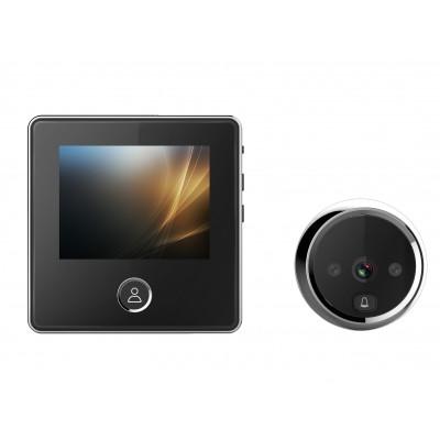 Judas de porte avec sonnette et appareil photo - écran 7,5cm avec vision nocturne 0.3MP