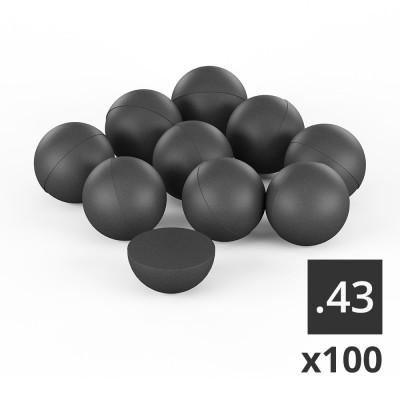 100 balles caoutchouc T4E Cal.43