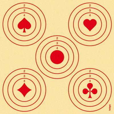 Lot de 100 cibles jeu de carte 14x14cm