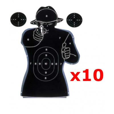 10 Cibles de tir silhouette humaine 50X70 cm