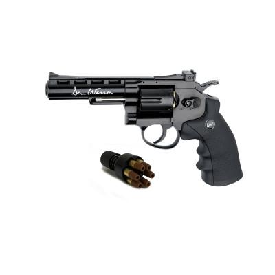 "Revolver Dan Wesson noir 4"" cal. 4.5 mm"
