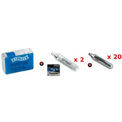 Kit Performance Optimum (boîte de 100 tampon - 2 sparclettes 12gr - 20 cartouches CO2)