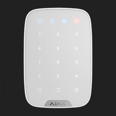Clavier numérique sans fil utilisé pour armer/désarmer le système de sécurité Ajax - Blanc