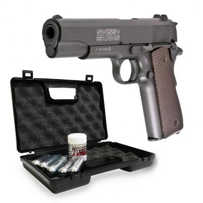 Pack pistolet 1911 Full métal BBS - Swissarms