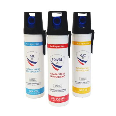 Pack 3 Lacrymogènes 75ml Gaz/Gel/Poivre