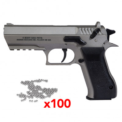 Pistolet Magnum research Baby Eagle Silver 4,5mm - 22 Bbs - 2,8J - silver