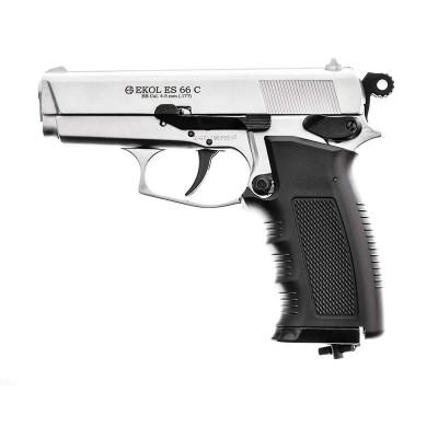 Pistolet Ekol ES66C BBs chromé cal 4,5 mm 2,4j