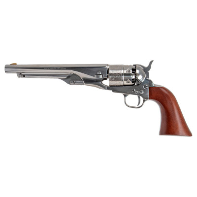 Revolver poudre noire PIETTA 1860 Army OLD SILVER FRAME STEEL BS & TG cal.44 (CAS44/ST/OS)