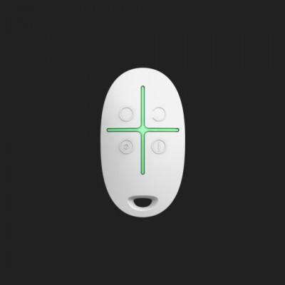 Télécommande de poche SpaceControl pour système de sécurité Ajax - Blanc