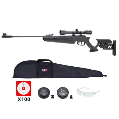 Pack carabine Swiss Arms TG-1 noir - 4.5mm - 19,9 joules + Lunette de Visée 4x40