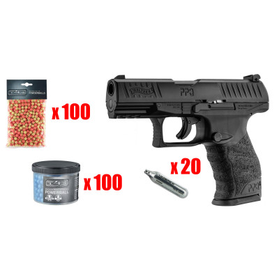 MAXI PACK WALTHER PPQ M2 T4E cal.43 type gomme cogne