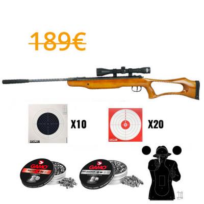 Pack Carabine SwissArms Yellow Bird 19,5j cal 4.5mm + lunette 4X32