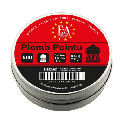 500 plombs Pointu Europarm cal 4.5mm