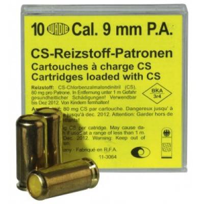 10 Cartouches 9 mm Pistolet à Gaz CS