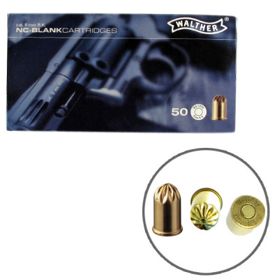 50 cartouches à blanc WALTHER pour revolver 9mm