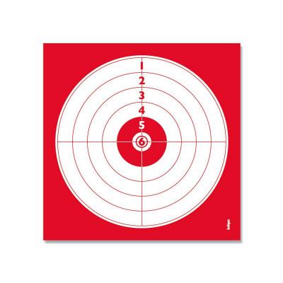 lot de 250 cibles numérotées 14x14 cm de tir au pistolet à 10m