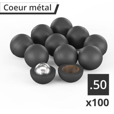 100 Balles RBI 50 coeur bille acier pour Umarex T4E cal.50 (en sachet)