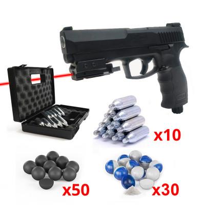 Pack Laser Pistolet Umarex T4E HDP 50 11 joules Cal. 50 + Micro Laser