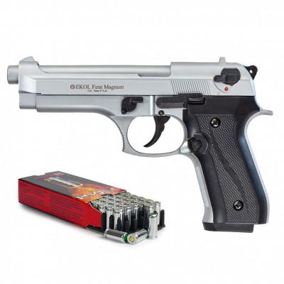 """Kit défense EKOL type """"Beretta 92 F""""  métal brossé cal. 9mm"""