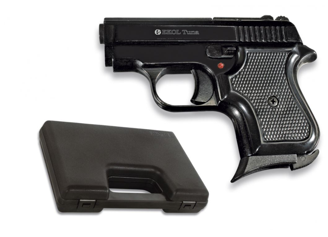pistolet ekol tuna noir brillant cal 8 mm. Black Bedroom Furniture Sets. Home Design Ideas